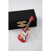 Pin guitarra eléctrica roja modelo PGE8R-7CM