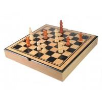 Ajedrez 3 en 1 backgammon y damas en madera