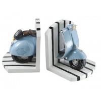 Sujeta libros moto scooter azul