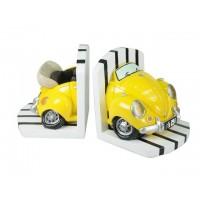 Sujeta libros coche amarillo