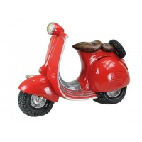 Hucha scooter roja
