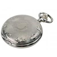 Reloj bolsillo cromado con escudo