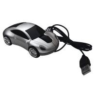 Ratón óptico ordenador coche gris