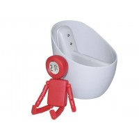 Termómetro sin pila con agua rojo
