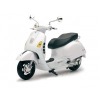 Miniatura Vespa GTS 300 blanca escala 1:12