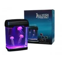 Lámpara led con medusas en movimiento