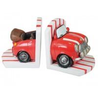 Sujeta libros coche rojo