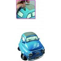 Hucha coche 600 azul