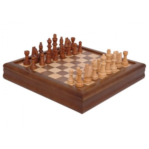 Juego de ajedrez en madera de marqueter a - Madera para marqueteria ...