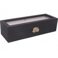 Caja guarda relojes 6 unds marrón grano
