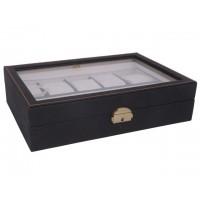 Caja guarda relojes 10 unds marrón grano