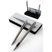 Juego de bolígrafo y roller con soporte para mesa