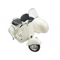 Moto Vespa con sidecar escala 1:6