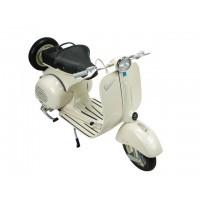 Moto Vespa 1955 beige escala 1:6